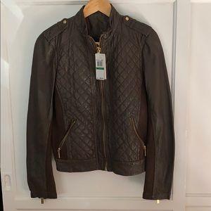 NWT Michael MK Leather Jacket